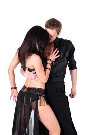 Tänzer in Aktion auf weiß isoliert Standard-Bild - 15978966