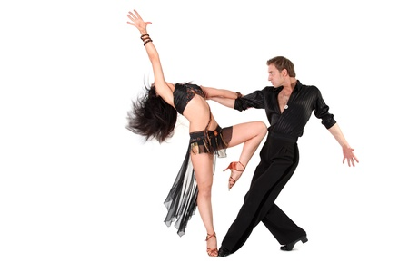 dancer in action isolated on white Stock Photo - 15942142