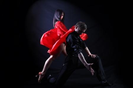 Tänzer in Aktion auf weiß isoliert Standard-Bild - 15942265