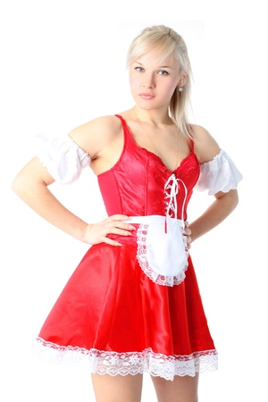 french fancy: Woman in French Maid outfit