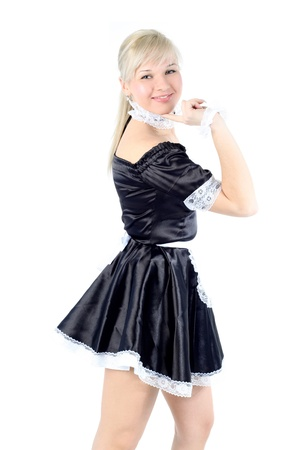 Woman in French Maid outfit photo