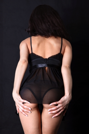 girl ass in hands Stock Photo - 15950130