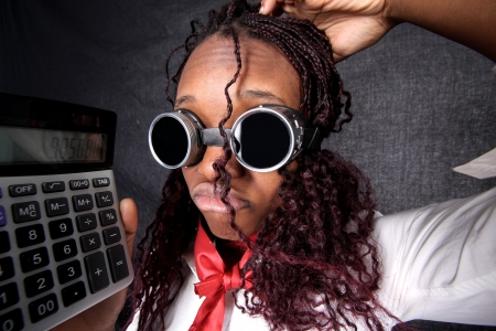 faker: afro-american accountant manager Stock Photo