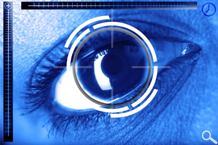 scan eye for security or identification Stock Photo - 15953831