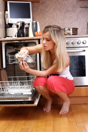 woman cleaning kitchen Stock Photo - 15960996