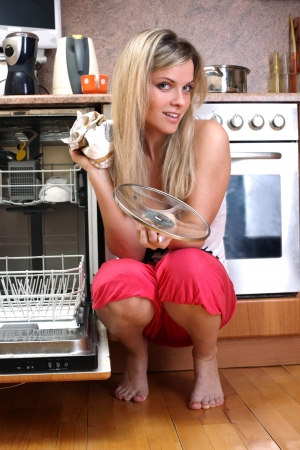 woman cleaning kitchen Stock Photo - 15957948