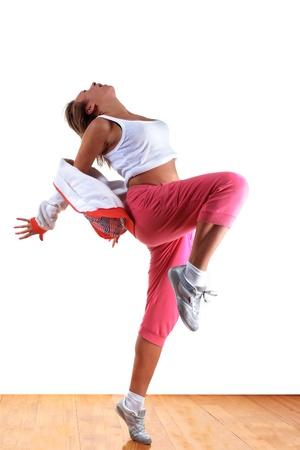 Frau modernen Tänzer im Ballsaal