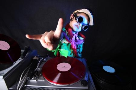 DJ niño fresco en acción Foto de archivo - 15985322