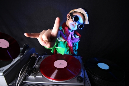 DJ ni�o fresco en acci�n Foto de archivo - 15985322