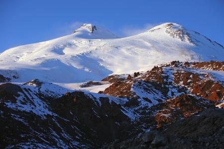 elbrus: snowy mountain Elbrus at Northern Caucasus