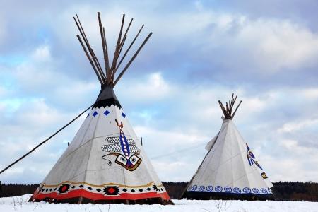 tepee: Classic native Indian tee-pee