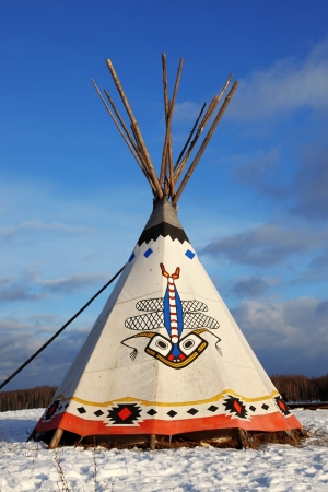 native american art: Classic native Indian tee-pee