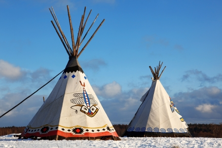plains indian: Classic native Indian tee-pee