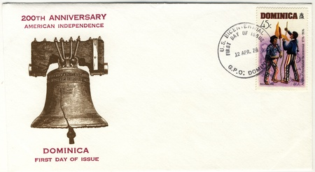 vintage envelope of american revolution bicentennial