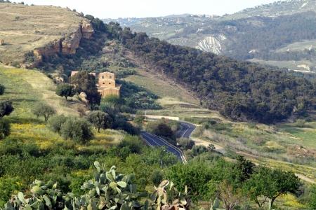 solidify: old Italy, area near Agrigento city, Sicily Stock Photo