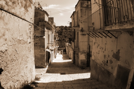 old Italy ,Sicily, Ragusa city Stock Photo - 15981907