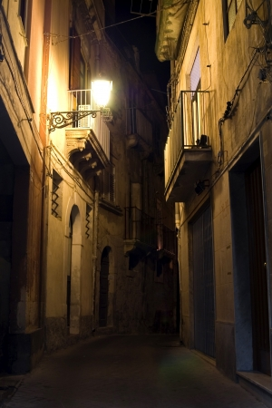 Syracuse, Sicily night street view in old town Stock Photo - 15966063