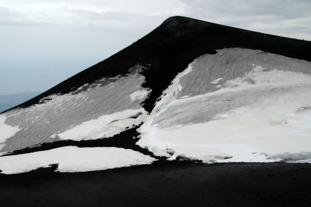 solidify: Mount Etna on Sicily, Italy, eruption of 3 may 2007 Stock Photo