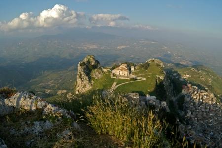 old Italy ,Sicily, Caltabelotta city Stock Photo - 15972307