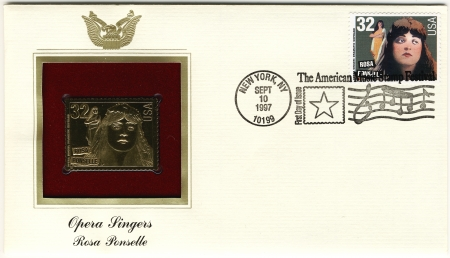 lyrical: USA envelope with A Rosa Ponselle- famous Opera singers Editorial