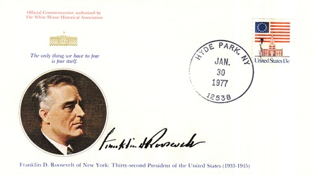vintage envelope with 32s president of USA  - Franklin D Roosevelt Stock Photo - 15986593