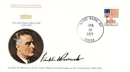vintage envelope with 32s president of USA  - Franklin D Roosevelt Stock Photo - 15986593