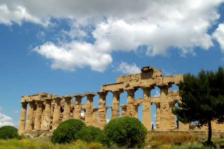 old Italy, Greek temple in Agrigento, Sicily Stock Photo - 15969609