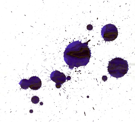 splutter: Abstract isolated watercolor stain