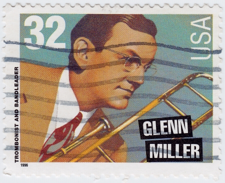 miller: USA - CIRCA 1996 : stamp printed in USA shows Glenn Miller is an trombonist and bandleader, circa 1996