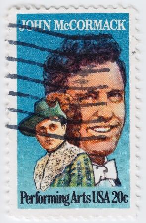 USA - CIRCA 1984 : stamp printed in the USA shows of John McCormack world-famous Irish tenor singer, circa 1984 Stock Photo - 16127656