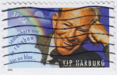 USA - CIRCA 2005 : stamp printed in USA shows Yip Harburg American popular song lyricist, circa 2005 Stock Photo - 16127670