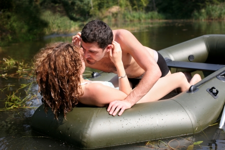 couple in boat Stock Photo - 16086962
