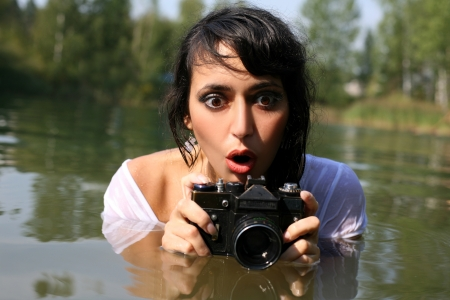 photographer in water photo