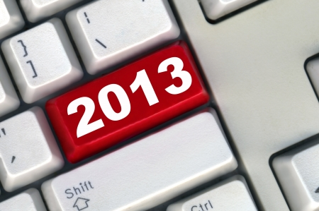 keyboard with red button 2011 New Year photo