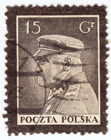 POLAND - CIRCA 1945: stamp printed in Poland shows image of old Polish soldier, circa 1945  Stock Photo - 16232862