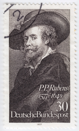 GERMANY - CIRCA 1977: A stamp printed in the Federal Republic of Germany shows P.P. Rubens (1577-1640), circa 1977  Stock Photo - 16232861