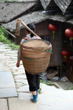 miao: Miao countrywoman from Longji rice terraces, Guangxi province, China