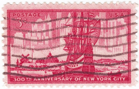 USA - CIRCA 1953 : postage stamp printed in the USA, dedicated of 300th anniversary of the New York city, Circa 1953  photo