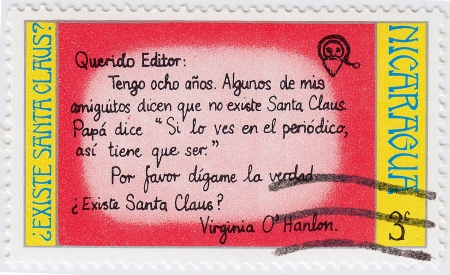 NICARAGUA - CIRCA 1996  stamp printed in Nicaragua show children letter to Santa, circa 1996 Stock Photo - 16238248