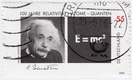 GERMANY - CIRCA 2005: stamp printed in Germany shows Physicist Albert Einstein, circa 2005