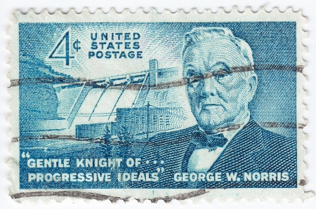united states postal service: USA - CIRCA 1961 : stamp printed in the USA shows George William Norris, US politican from the state of Nebraska, circa 1961