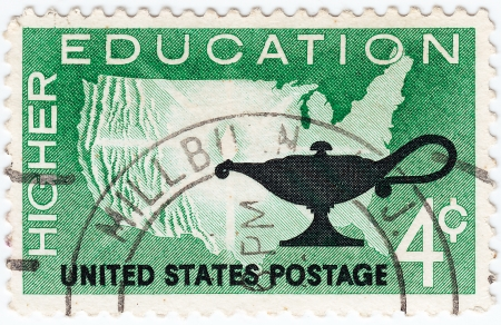 USA - CIRCA 1960 : stamp printed in USA shows higher Education, circa 1960 Stock Photo - 16284242