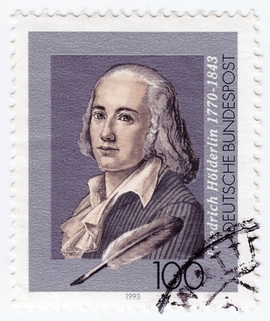 GERMANY - CIRCA 1993: stamp printed in Germany shows Friedrich Holderlin, lyric poet, circa 1993  Stock Photo - 16284168