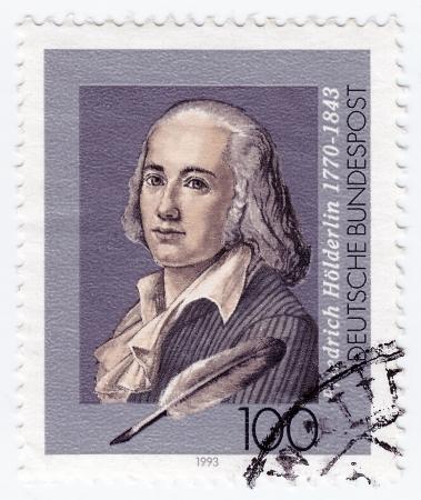 GERMANY - CIRCA 1993: stamp printed in Germany shows Friedrich Holderlin, lyric poet, circa 1993  Stock Photo - 16284168