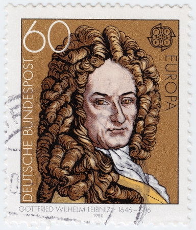 GERMANY - CIRCA 1980: stamp printed in Germany shows Gottfried Wilhelm Leibniz, philosopher, circa 1980  Stock Photo - 16284272