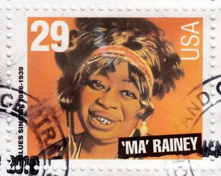 USA - CIRCA 1994 : stamp printed in USA shows blues singer Ma Rainey, circa 1994