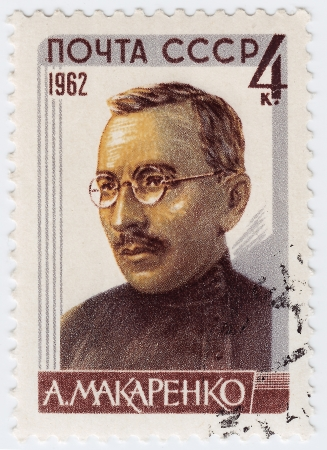 RUSSIA - CIRCA 1965 : stamp printed in Russia shows Makarenko educator, circa 1965 Stock Photo - 16284244
