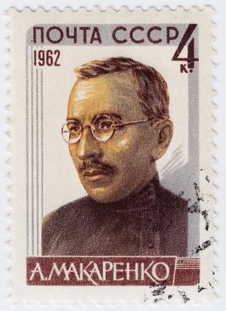 RUSSIA - CIRCA 1965 : stamp printed in Russia shows Makarenko educator, circa 1965 Stock Photo - 16284244