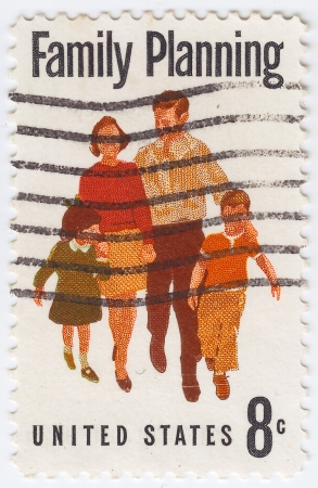 USA - CIRCA 1961: stamp printed in USA show the Family Planning, circa 1961 Stock Photo - 16284190