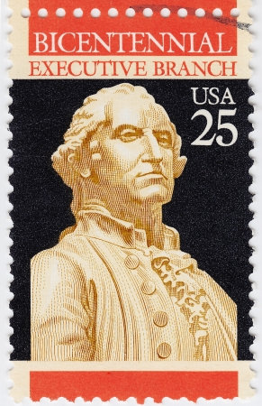 UNITED STATES - CIRCA 1977 : bicentennial postage stamp printed in USA showing President Washington, circa 1977 Stock Photo - 16284226
